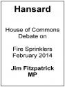 Fire Sprinkler Debate 2014